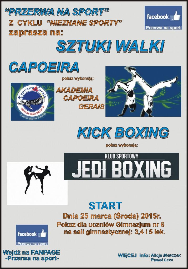 plakat do szkoly capoeira kickboxing